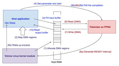 Volvoxフレームワークでのデータの流れ